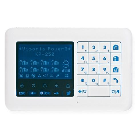 KP-250 PG2 Новинка !|Беспроводная полнофункциональная клавиатура серии PowerG с бесконтактным считывателем.